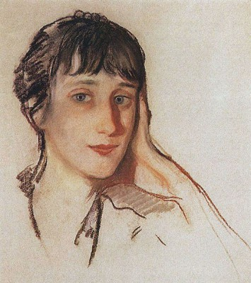 А. Ахматова, Серебрякова, 1922