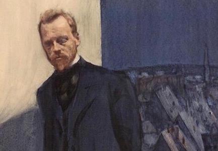 М. А. Дурнов, портрет К. Д. Бальмонта в Париже, 1901