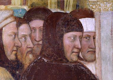 Петрарка, фрагмент росписи Альтикьеро да Дзевио в Падуе, ок. 1376