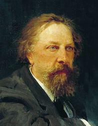 Портрет А. К. Толстого работы И. Е. Репина, 1896